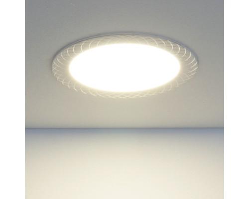 Встраиваемый потолочный светодиодный светильник DLR005 12W 4200K WH белый