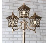 Уличный трехрожковый светильник на столбе IP44 Cassiopeya F/3 черное золото
