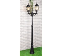 Уличный двухрожковый светильник на столбе IP33 NLG99HL004 черный