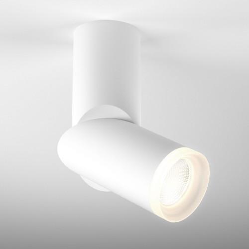Накладной потолочный светодиодный светильник DLR036 12W 4200K белый матовый