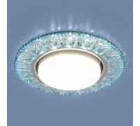 Точечный светодиодный светильник 3022 GX53 BL лазурный
