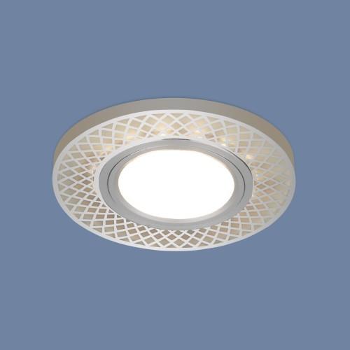 Встраиваемый точечный светильник со светодиодной подсветкой 2232 MR16 CH хром