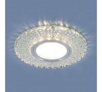 Встраиваемый точечный светильник со светодиодной подсветкой 2233 MR16 CL прозрачный