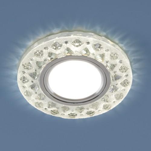 Встраиваемый точечный светильник с LED подсветкой 2222 MR16 CL прозрачный