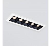 Встраиваемый точечный светодиодный светильник 9921 LED 10W 4200K белый/черный