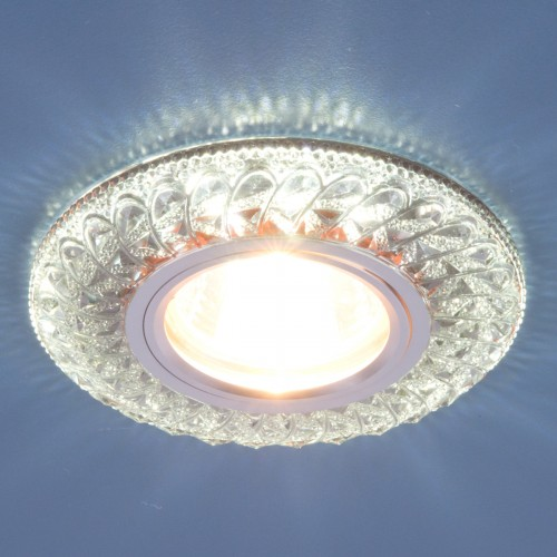 Встраиваемый точечный светильник со светодиодной подсветкой 2180 MR16 SB дымчатый