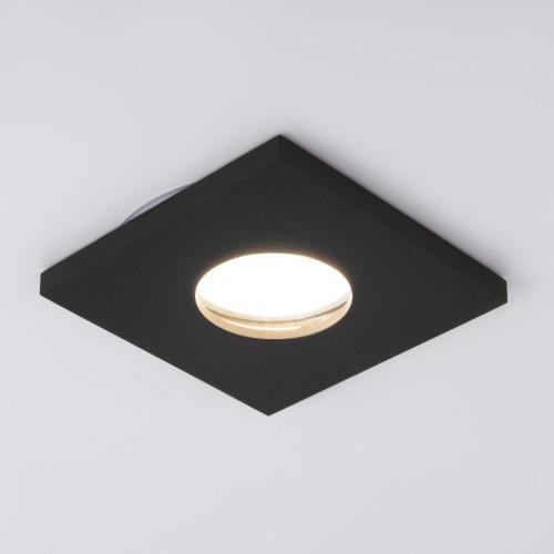 Влагозащищенный точечный светильник 126 MR16 черный матовый