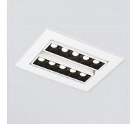 Встраиваемый точечный светодиодный светильник 9923 LED 20W 4200K белый/черный