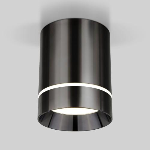 Накладной потолочный светодиодный светильник DLR021 9W 4200K Черный жемчуг