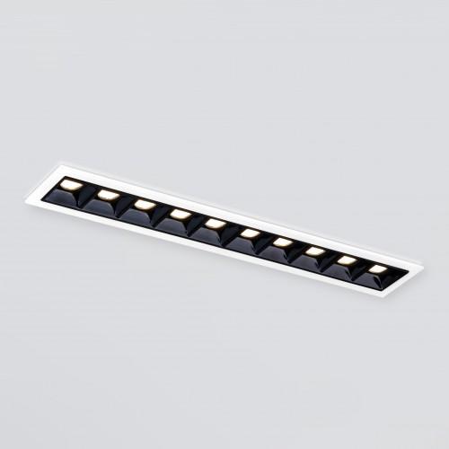Встраиваемый точечный светодиодный светильник 9922 LED 20W 4200K белый/черный