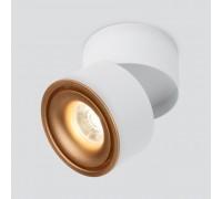 Накладной потолочный светодиодный светильник DLR031 15W 4200K 3100 белый матовый/золото