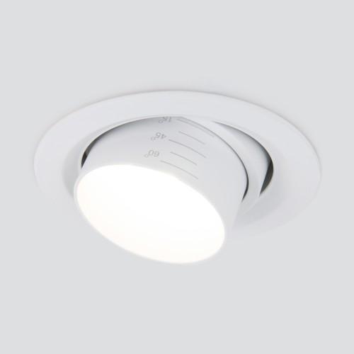 Встраиваемый светодиодный светильник с регулировкой угла освещения 9920 LED 15W 4200K белый