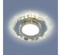 Встраиваемый точечный светильник со светодиодной подсветкой 2226 MR16 SL зеркальный/серебро