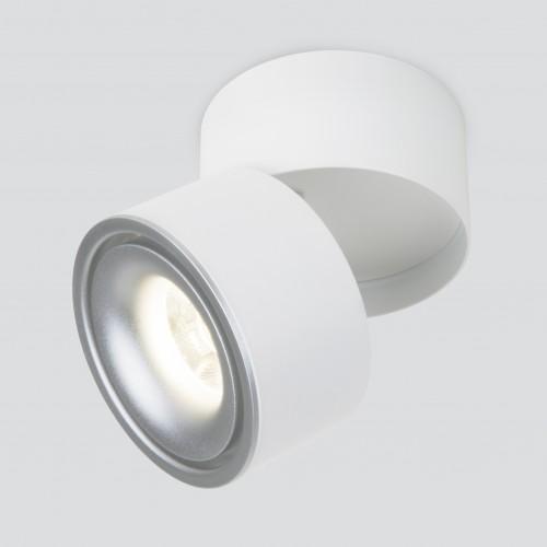 Накладной потолочный светодиодный светильник DLR031 15W 4200K 3100 белый матовый/серебро