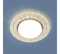 Встраиваемый точечный светильник с LED подсветкой 3027 GX53 CL прозрачный