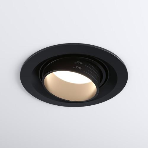 Встраиваемый светодиодный светильник с регулировкой угла освещения 9919 LED 10W 4200K черный