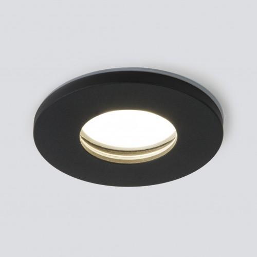 Влагозащищенный точечный светильник 125 MR16 черный матовый