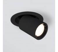 Встраиваемый точечный светодиодный светильник 9917 LED 10W 4200K черный матовый