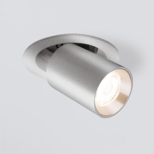 Встраиваемый точечный светодиодный светильник 9917 LED 10W 4200K серебро