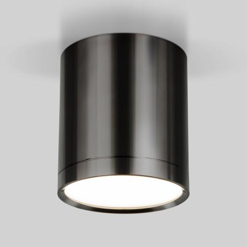 Накладной потолочный светодиодный светильник DLR024 6W 4200K Черный жемчуг