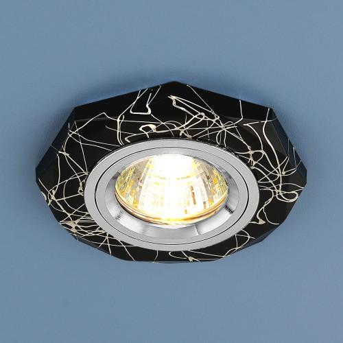 Встраиваемый точечный светильник 2040 MR16 BK/SL черный/серебро