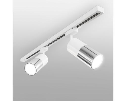 Трековый светодиодный светильник для однофазного шинопровода Avantag Белый матовый/хром 6W 4200K LTB27