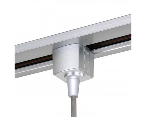 Коннектор для однофазного шинопровода серебро TRLM-1-CH
