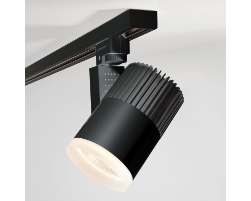 Трековый светодиодный светильник для однофазного шинопровода Accord черный 20W 4200K LTB36