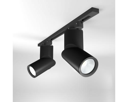 Трековый светодиодный светильник для однофазного шинопровода Corner Черный 15W 4200K LTB33